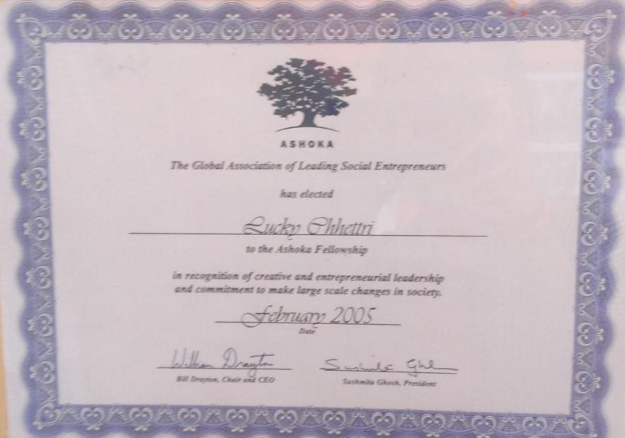 Ashoka Fellowship Award 2005