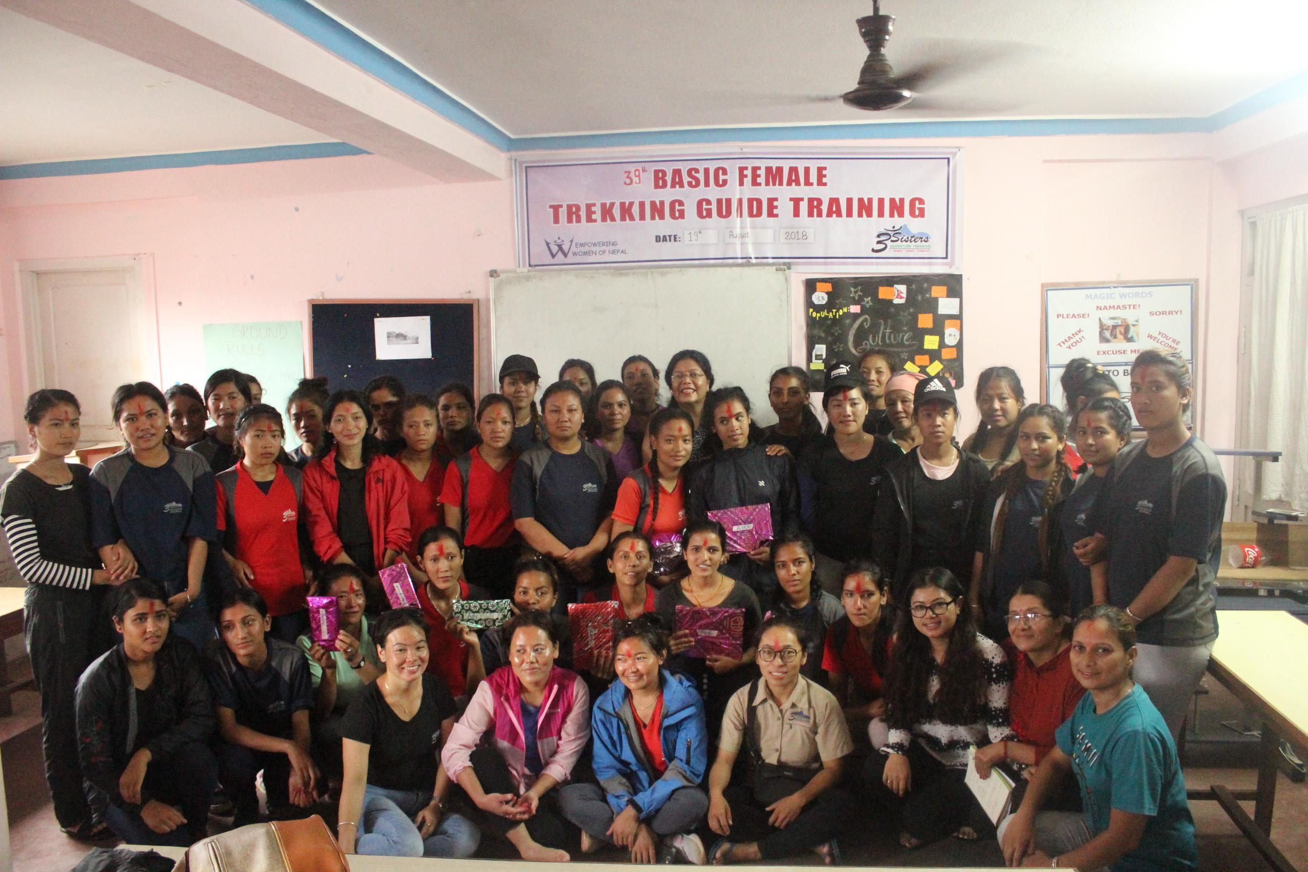 Closing Ceremony of Female Trekking Guide Training 2018